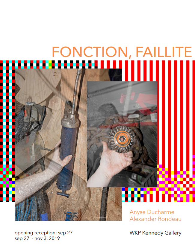 Fonction, Faillite by Alexander Rondeau and Anyse Ducharme