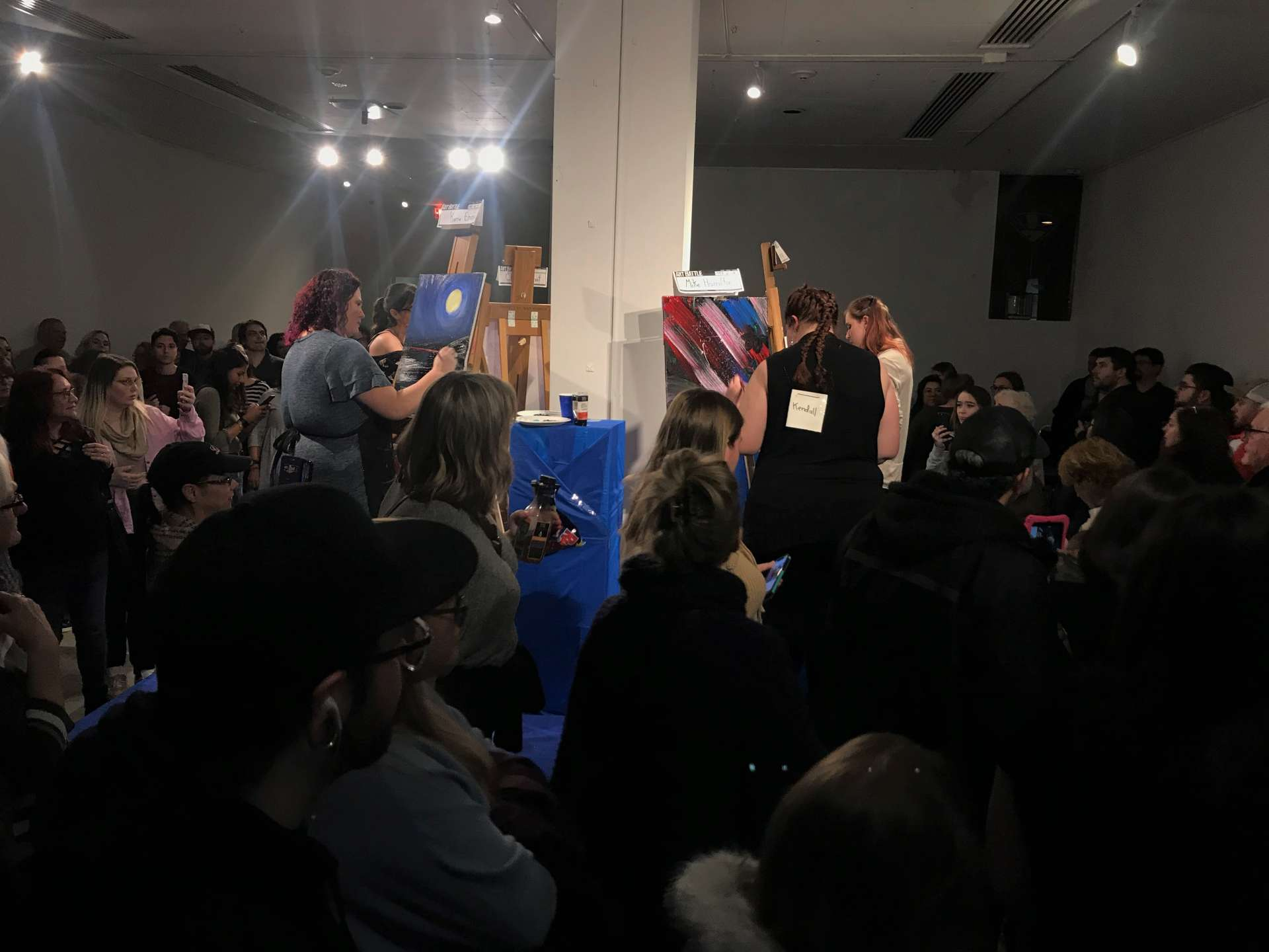 North Bay Art Battle Packs the Gallery
