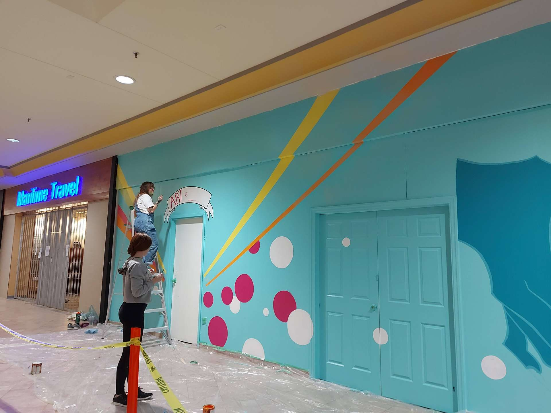 Gallery's mural taking shape at Northgate- Nugget Article